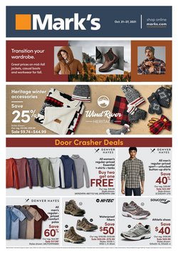 Clothing, Shoes & Accessories deals in the Mark's catalogue ( 2 days left)