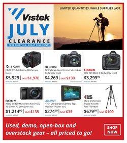 Electronics deals in the Vistek catalogue ( 8 days left)