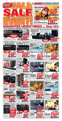 2001 Audio Video deals in the Richmond Hill flyer