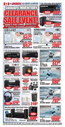 2001 Audio Video deals in the Toronto flyer