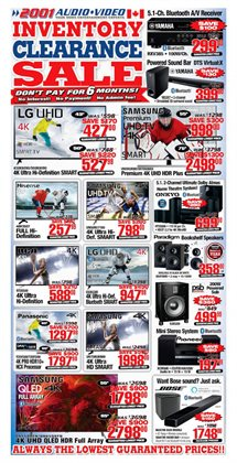 Electronics & Appliances offers in the 2001 Audio Video catalogue in Toronto