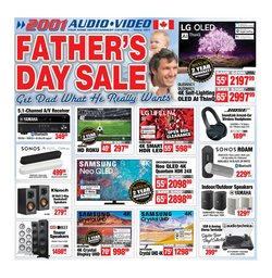 Electronics deals in the 2001 Audio Video catalogue ( Expires tomorrow)