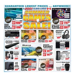 Electronics deals in the 2001 Audio Video catalogue ( Expires today)