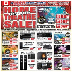 Electronics deals in the 2001 Audio Video catalogue ( Published today)