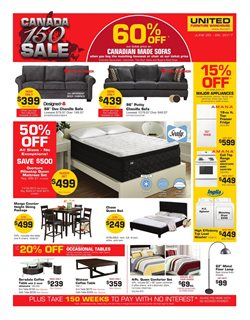 United Furniture Warehouse deals in the Edmonton flyer