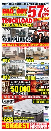 Bad Boy Superstore deals in the North York flyer