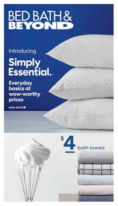 Home & Furniture deals in the Bed Bath & Beyond catalogue ( More than a month)