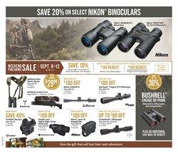 Nikon deals in the Bass Pro Shop catalogue ( 3 days left)
