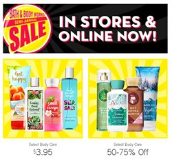 Pharmacy & Beauty offers in the Bath & Body Works catalogue in Kanata