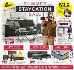Home & Furniture deals in the Leon's catalogue ( Published today)