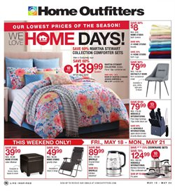 Home Outfitters deals in the Montreal flyer