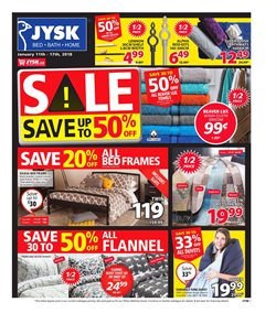 JYSK deals in the Montreal flyer