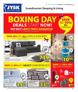 JYSK deals in the Calgary flyer