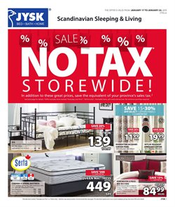Home & furniture offers in the JYSK catalogue in Prince George