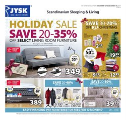 JYSK deals in the Edmonton flyer