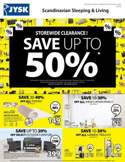 Home & Furniture deals in the JYSK catalogue ( Expires tomorrow)