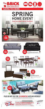 Home & furniture offers in the The Brick catalogue in Vancouver