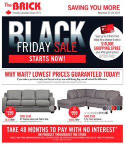 The Brick deals in the Gatineau flyer