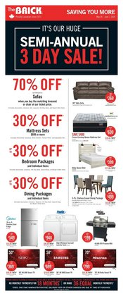 Home & Furniture offers in the The Brick catalogue ( Expires today )