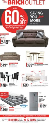 Home & Furniture deals in the The Brick catalogue ( Expires tomorrow)