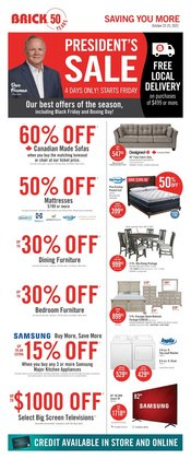 Home & Furniture deals in the The Brick catalogue ( 1 day ago)