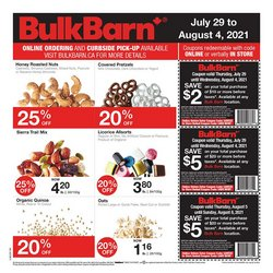 Grocery deals in the Bulk Barn catalogue ( Expires tomorrow)