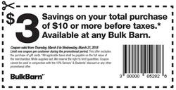 Bulk Barn deals in the Toronto flyer