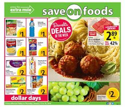 Grocery offers in the Save on Foods catalogue in Vancouver