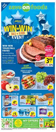Grocery offers in the Save on Foods catalogue in Edmonton