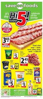 Grocery offers in the Save on Foods catalogue in Chilliwack