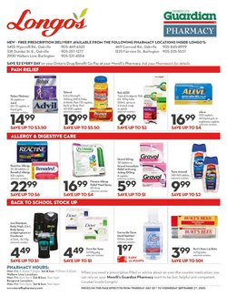 Back to School deals in the Longo's catalogue ( 7 days left)