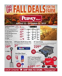 Peavey Mart deals in the Prince George flyer