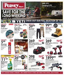 Peavey Mart deals in the Peavey Mart catalogue ( Expires today)