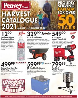 Peavey Mart deals in the Peavey Mart catalogue ( More than a month)