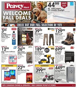 Peavey Mart deals in the Peavey Mart catalogue ( 1 day ago)