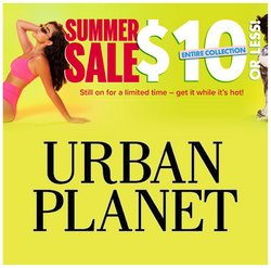 Urban Planet deals in the Urban Planet catalogue ( 13 days left)