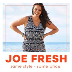 Joe Fresh deals in the Toronto flyer