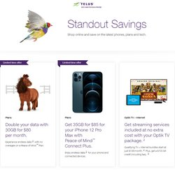 Telus deals in the Telus catalogue ( Expired)