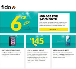 Electronics deals in the Fido catalogue ( 2 days left)