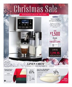 Linen Chest deals in the Montreal flyer