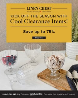 Home & Furniture deals in the Linen Chest catalogue ( 2 days left)