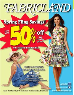 Fabricland deals in the Ottawa flyer