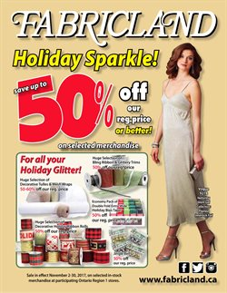 Fabricland deals in the Toronto flyer