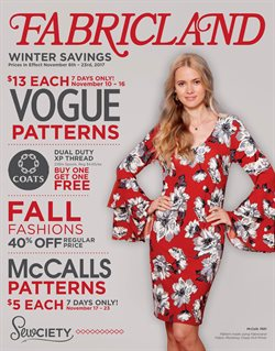 Fabricland deals in the Victoria BC flyer