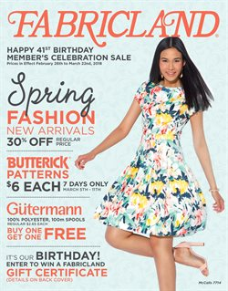 Fabricland deals in the Vancouver flyer