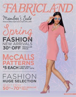 Fabricland deals in the Calgary flyer