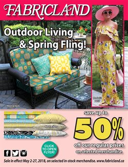 Home & furniture offers in the Fabricland catalogue in Gatineau