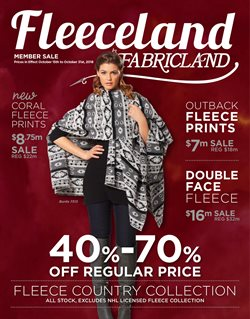 Fabricland deals in the Prince George flyer