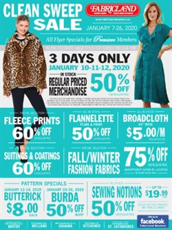 Home & Furniture offers in the Fabricland catalogue in St. Catharines
