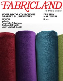 Home & Furniture offers in the Fabricland catalogue in Toronto ( More than a month )